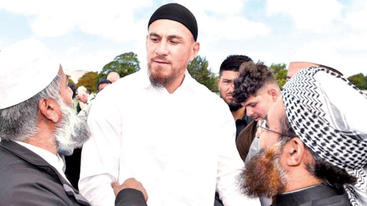 Sonny Bill Williams joined thousands of other Muslims and New Zealanders for Friday prayers at Hagley Park.