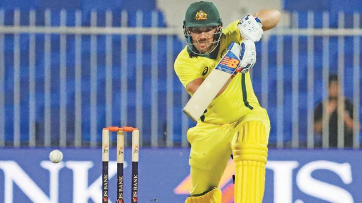Australian cricketer Aaron Finch plays a shot during the second one day international (ODI) against Pakistan at Sharjah on Sunday. – AFP