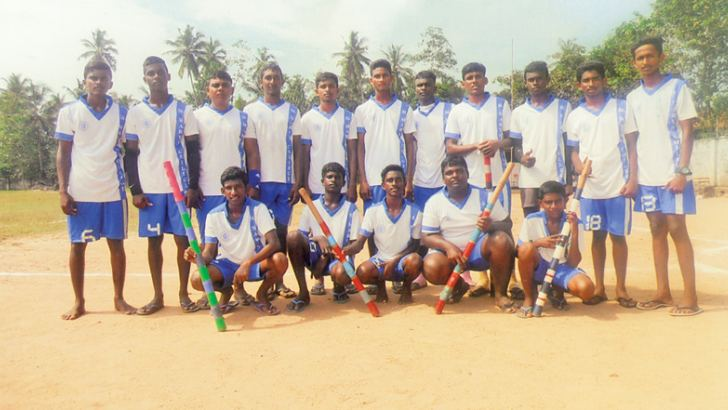 Panadura Divisional Level under 20 Elle Champions St. Mary's College,  Wadduwa.  (Picture by H. L Sunil Shantha Kalutara Central Special Correspondent)