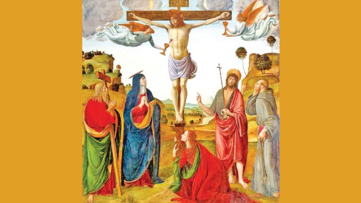 The Crucifixion with Madonna and Saints Cosimo Rosselli  Oil Painting.