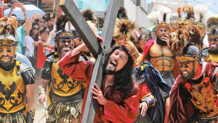 Catholic devotees re-enact the death of Jesus Christ on Good Friday during Holy Week in The Philippines.