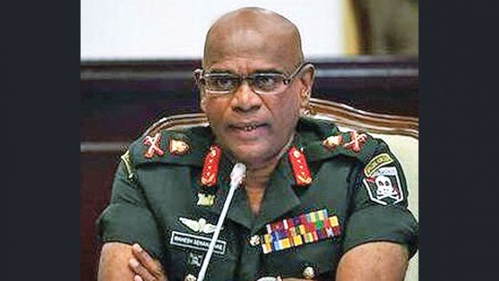 Army Commander Lt. General  Mahesh Senanayake.