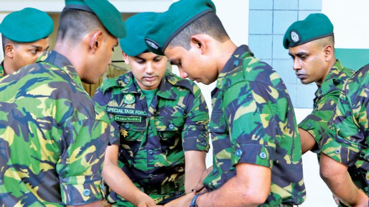 STF troops at the ceremony. Picture by Saman Sri Wedage