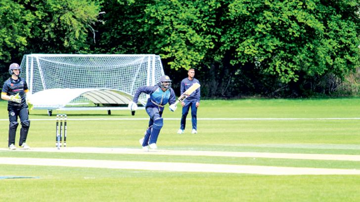 The Sri Lanka team at practice at the Merchant Taylors' School in Middlesex.