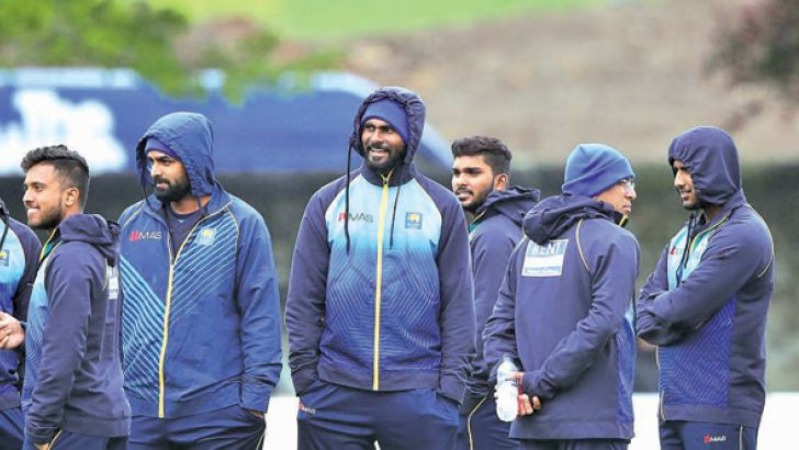 The Sri Lankan team hoping for bright weather in their second ODI against Scotland today.