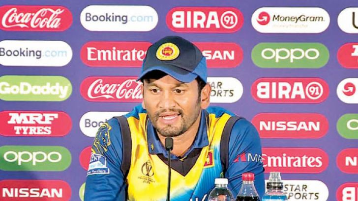 Sri Lanka captain Dimuth Karunaratne addresses the media after his team had suffered their second straight washout in the World Cup against Bangladesh at Bristol on Tuesday.