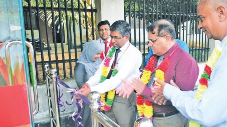 Chief Guest South Eastern Univedrsity Vice Chancellor Prof. M.M.M. Najim opens the ATM centre.