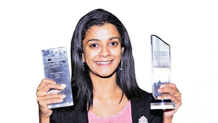 With her awards