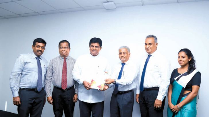 Minister Ajith P Perera and ICTA Chairman Prof Rohan Samarajiva at the launch of the Survey report. Picture by Samantha Weerasiri