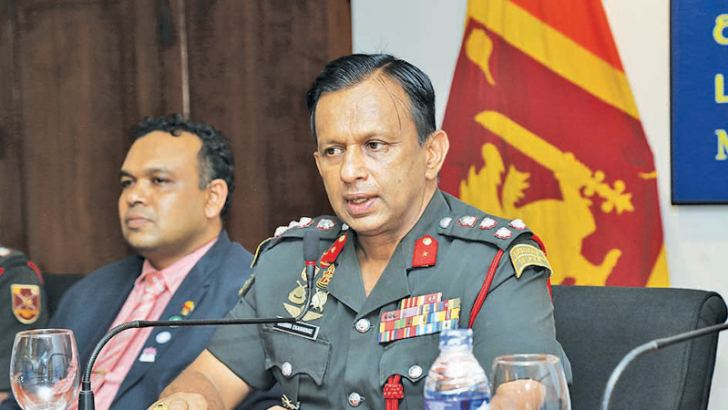 Chairman of Sri Lanka Army Chess Committee Brigadier G.M.C.K.B. Ekanayake (right) addressing the media in relation with 'Fox Hill Chess Fiesta – 2019', also in the picture is Verochana Perera Coach Sri Lanka Army Chess Club.