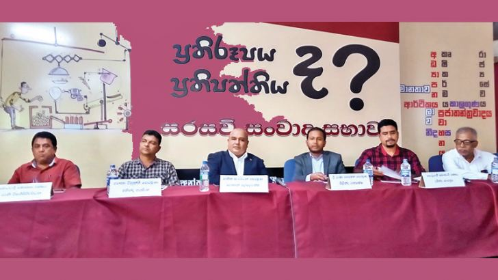 Presidential candidates and party representatives at the debate organised by the IUSF. Picture by Ragama Group Corr.