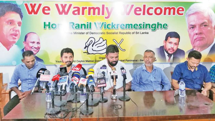 Media briefing in Sammanthurai hosted by Eastern Province Youth Congress Organizer of ACMC, S.M.M. Mussarraff. Picture by A.B. Abdul Gafoor - Ampara District Group Correspondent