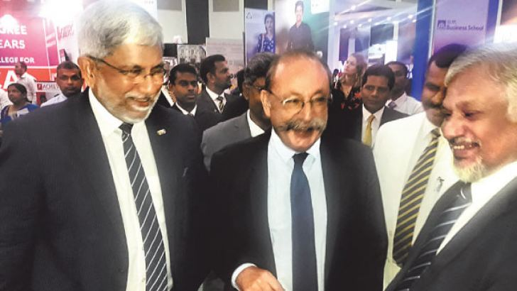 French Ambassador inspects exhibition stalls