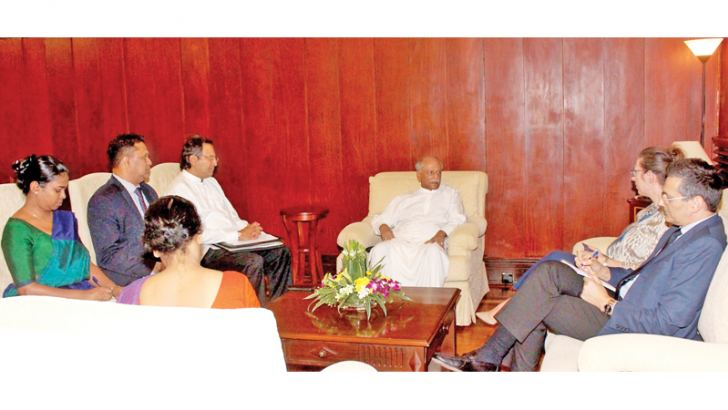 MEETING: Foreign Relations Minister Dinesh Gunawardena meeting US Ambassador to Sri Lanka Alaina Teplitz yesterday.