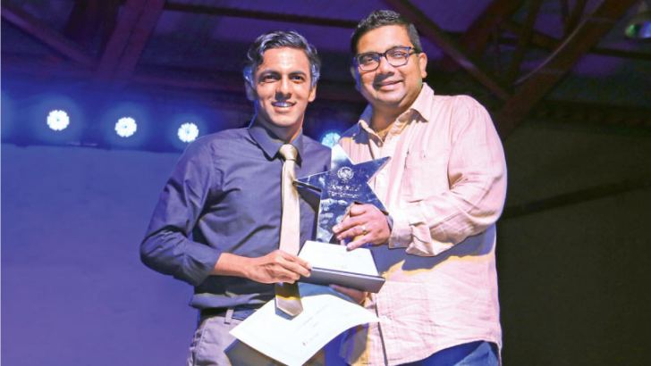 Nismath Thasleem carried away the trophy for Best Male portrayal from the Principal of Asian International School