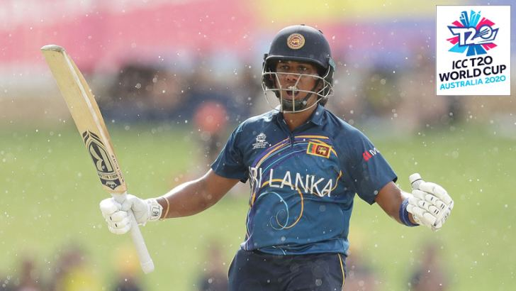 Sri Lanka captain Chamari Atapattu celebrates after reaching her half century against Australia in the ICC Women's T20 World Cup match played at the WACA, Perth on Monday.