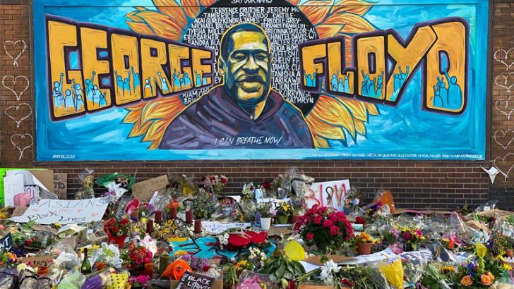 A mural tribute to George Floyd