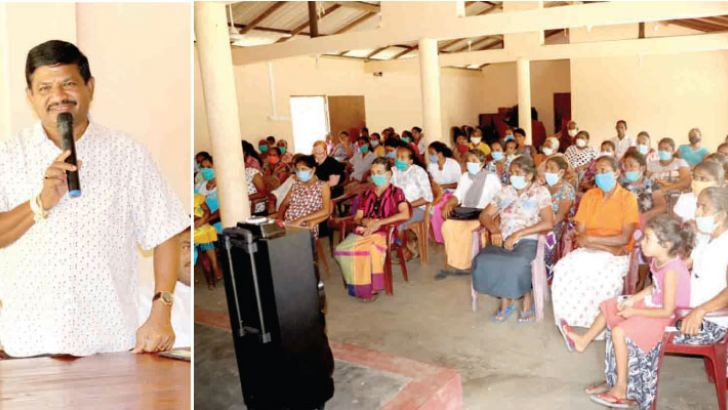 Former State Minister Lakshman Wasantha Perera speaking at the event.  Picture by A.A.L. Dias, Matale District Group Corr.