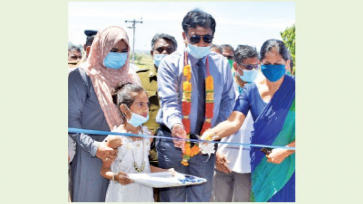 Eastern Province Governor Anuradha Yahampath inaugurating the project.