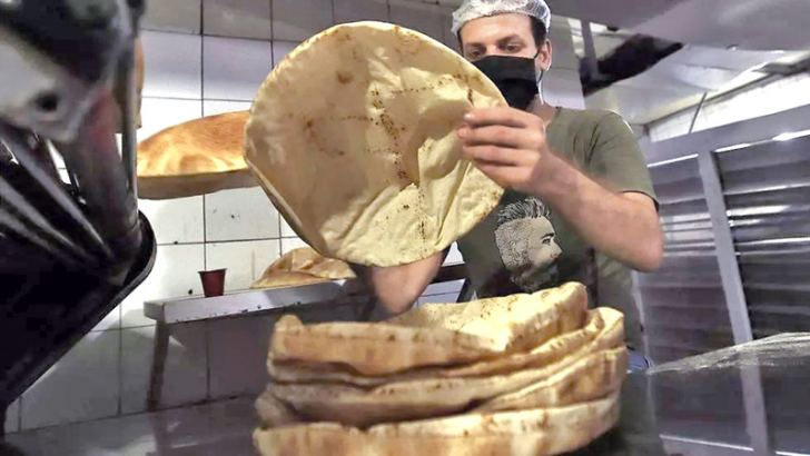 The flat bread is a must at every Lebanese meal.