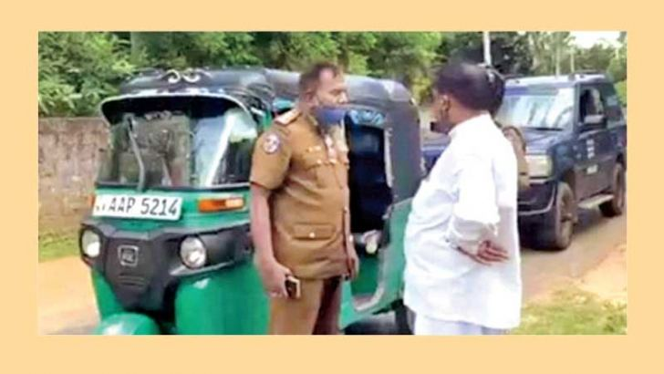 Police arrest Shivajilingam at the event.