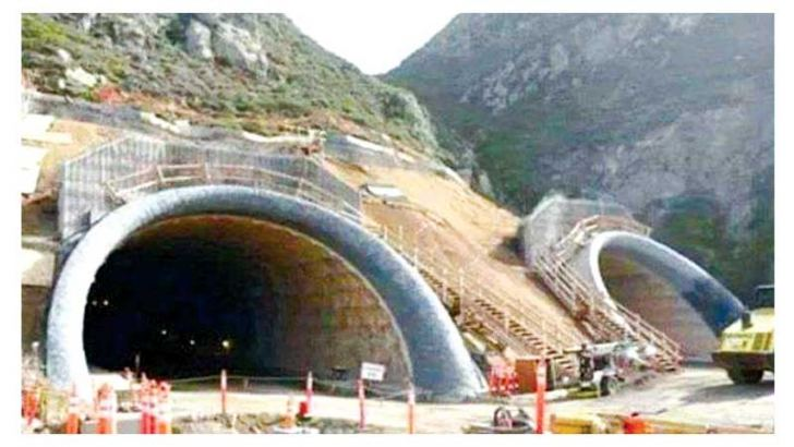 The strategic Rohtang tunnel is being built at an elevation of 10,171 ft under the Rohtang Pass in the Himalayas' eastern Pir Panjal Range.