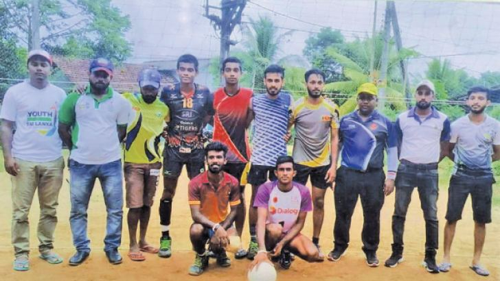 The Champion Vidyarathana Sports Club, Horana volleyball team Text and Pix by Kalutara Central Special Corr. H. L. Sunil Shantha