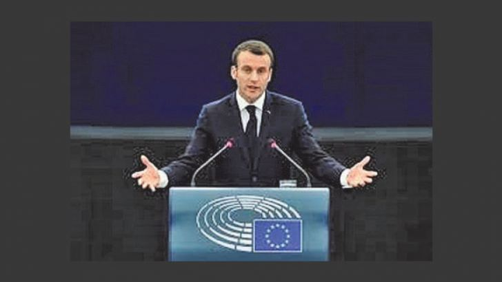 French President Emmanual Macron  addressing  UN General Assembly on September 22, 2020