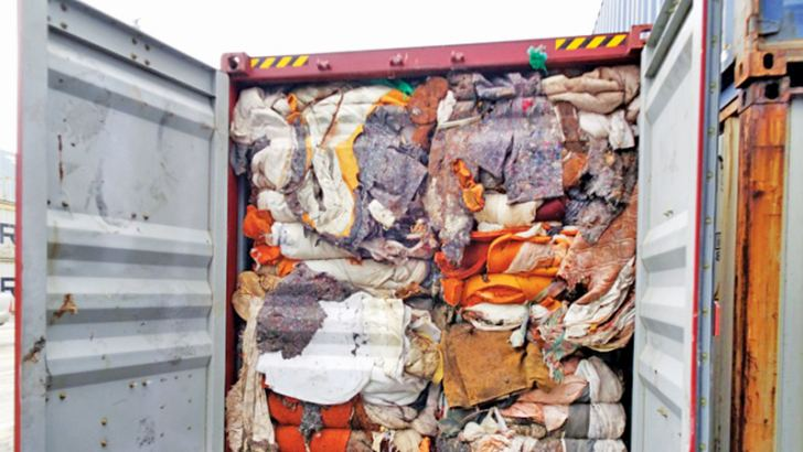 The load of a hazardous mortuary and clinical waste illegally imported from Britain.