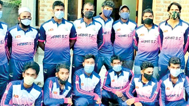 The Haima Sports Club, Palamunai team is seen here wearing the new jersey