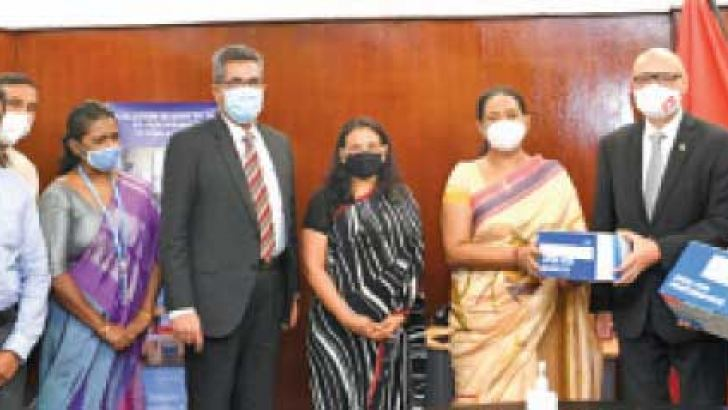 Health Minister Pavithra Wanniarachchi and Ambassador of Switzerland Dominik Furgler and other officials on the occasion.