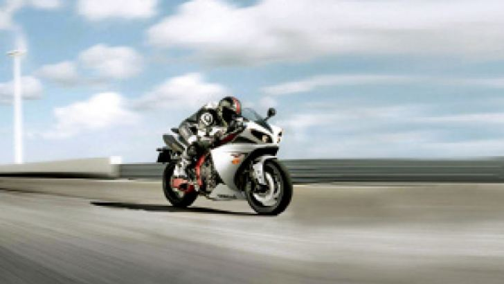 High powered motorcycles are illegally raced