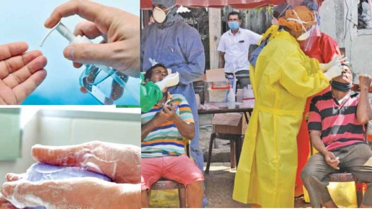 If soap and water are not available, use a sanitizer-PCR tests being conducted in Colombo-Wash your hands frequently