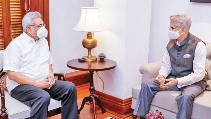 External Affairs Minister of India Dr. S.Jaishankar called on  President Gotabaya Rajapaksa at the Presidential Secretariat yesterday. Picture courtesy President's Media Division