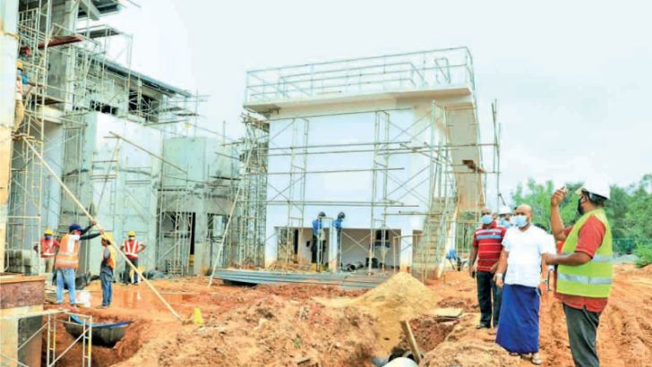 Renewable Energy Sources Development State Minister Duminda Dissanayake inspecting the water purification plant of the Anuradhapura North Phase I Water Project.