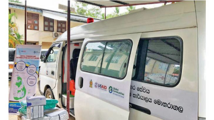 The mobile testing unit donated by USAID.