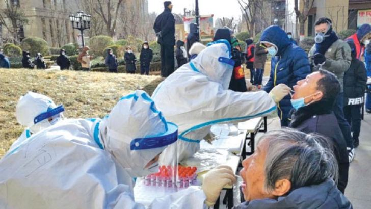 A mass COVID-19 testing drive launched in Hebei's capital city Shijiazhuang. - AFP