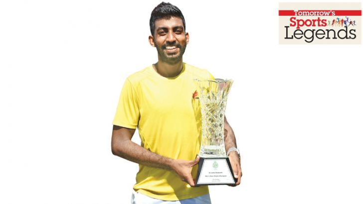 Yasitha with the National singles trophy