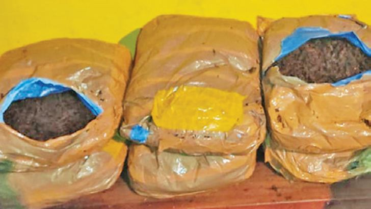 The parcels of Kerala cannabis.