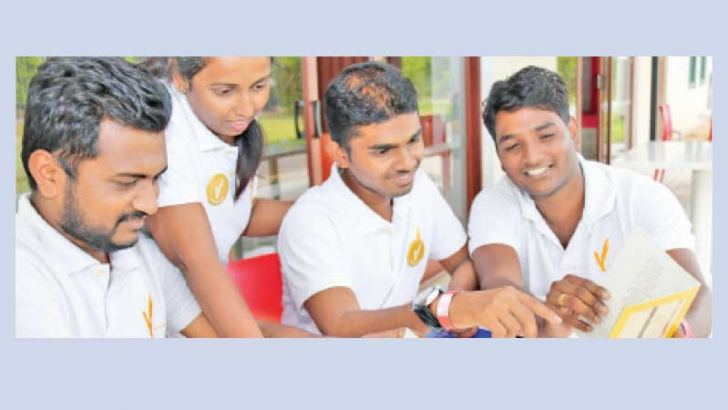 Values curriculum youth facilitators during a joint workshop in Kurunegala in 2019.