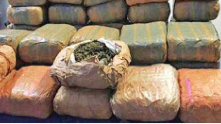The seized Kerala cannabis. Picture courtesy: Navy Media Unit.