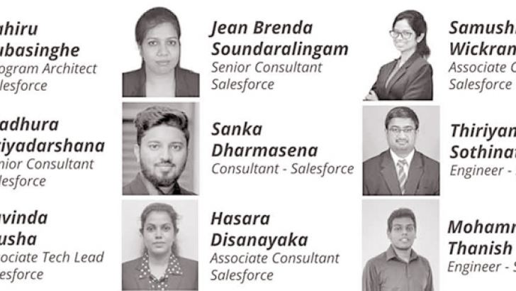 The Virtusa Team behind the rollout of the Salesforce Module at SLIIT