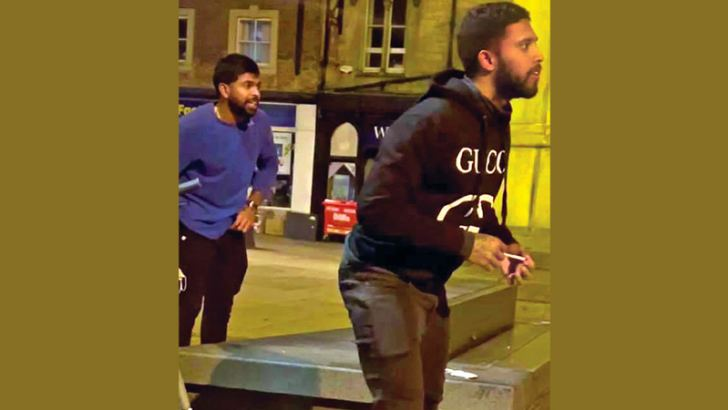 Niroshan Dickwella (left) and Kusal Mendis are seen breaching the bio-bubble during the tour of England after a purported video of them in the streets of Durham went viral on social media.