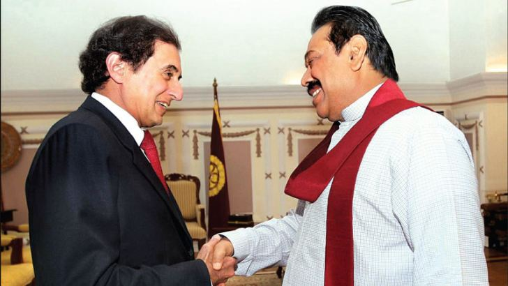 The International Monetary Fund's Director for Asia and the Pacific region Dr. Anoop Singh paying a courtesy call on President Mahinda Rajapaksa at Temple Trees on July 10. Picture by Sudath Silva