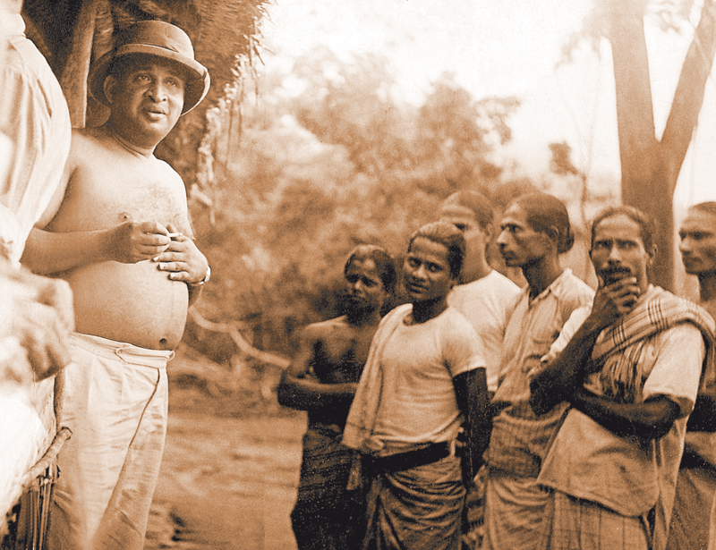Dudley with farmers