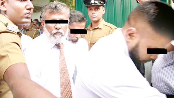 Army personnel allegedly involved in journalist Prageeth Ekneligoda's disappearnace. Pictures by Samantha Weerasiri