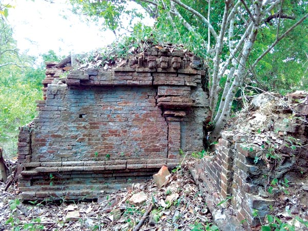 Ruins of the ancient Gedige stone pillars Picture by A. T. M. Gunananda