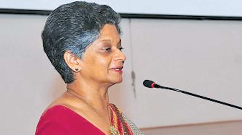 Indira Malwatte at the event.  Picture by-Saliya Rupasinghe