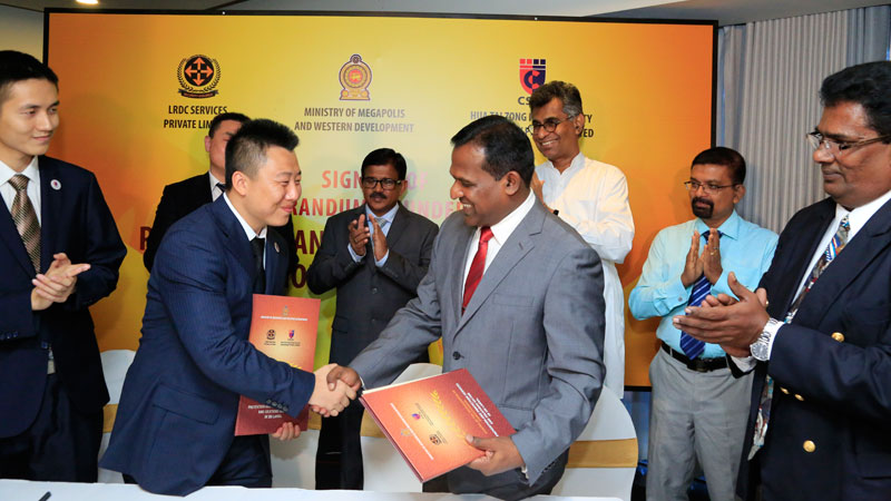 LRDC Services signs MoU with China's Hua Tai Zong Heng