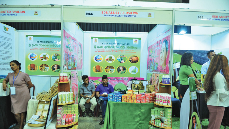 A stall at the International Health Care Exhibition